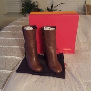 Kate Spade  Lux Goat Leather Booties